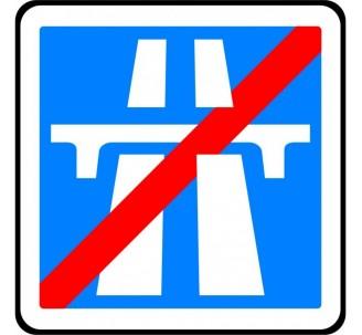 """Kit ou Panneau type routier  """"Fin d'une autoroute""""  ref:C208"""