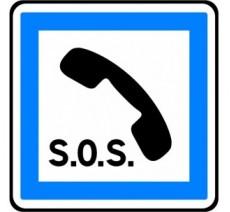 """Panneau ou kit type routier """"Poste d'appel d'urgence"""" ref:CE2a"""