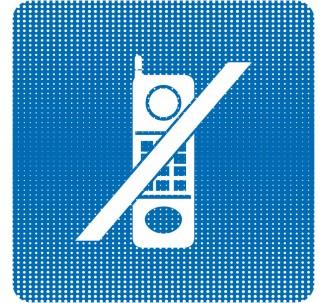 """Plaque de porte """"Point Picto"""" - Téléphone interdit"""