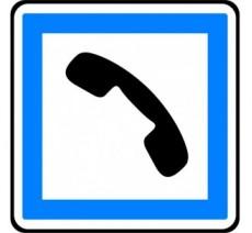 """Kit ou Panneau type routier """"Cabine téléphonique publique"""" ref:CE2b"""
