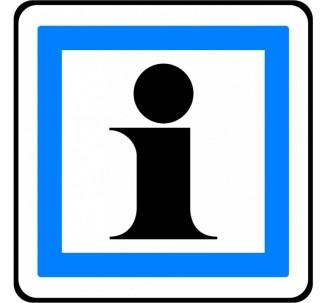 """Panneau ou kit type routier """"Informations touristiques"""" ref:CE3a"""