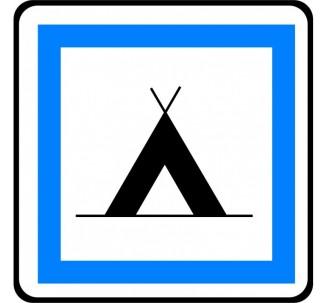 """Panneau seul ou en kit type routier """"Terrain de camping pour tentes"""" ref:CE4a"""