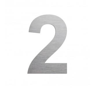 """Chiffre """"2"""" en aluminium découpé, coloris et dimensions au choix"""