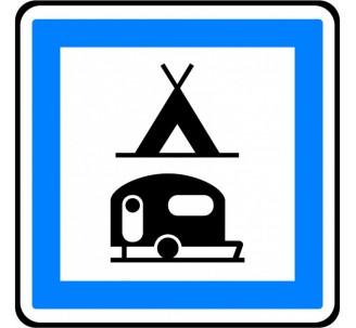 """Kit ou panneau type routier """"Terrain de camping pour tentes et caravanes"""" ref:CE4c"""