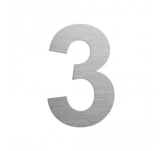 """Chiffre """"3"""" en alu, couleur et dimensions au choix"""