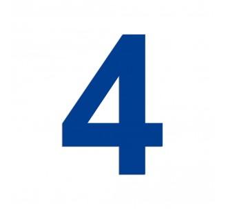 """Chiffre """"4"""" en aluminium, 5 coloris et 2 dimensions possibles"""