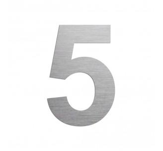 """Chiffre """"5"""" en aluminium, 5 coloris au choix, 100 ou 150 mm de haut"""