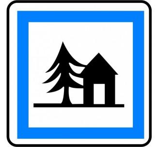 "Kit ou Panneau type routier ""Auberge de jeunesse"" ref:CE5a"