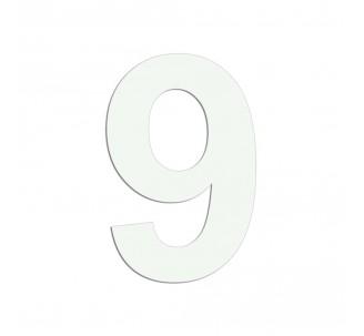 """Chiffre """"9"""" en alu découpé, dimensions et coloris au choix"""