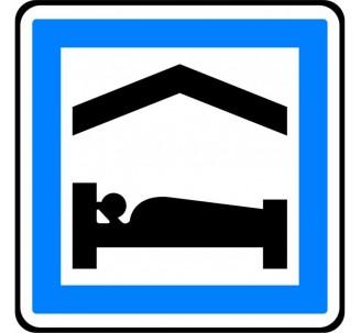 """Panneau ou kit type routier """"Chambre d'hôtes ou gîte"""" ref:CE5b"""