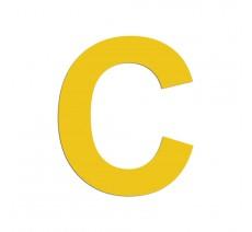 """Lettre """"C"""" en alu ou PVC découpé, dimensions et coloris au choix"""