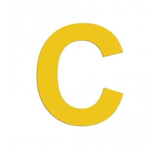 """Lettre """"C"""" en alu découpé, dimensions et coloris au choix"""