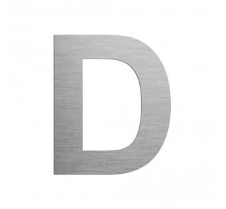 """Lettre """"D"""" en aluminium découpé, coloris et dimensions au choix"""