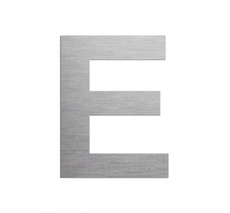 """Lettre """"E"""" en aluminium découpé, dimensions et coloris au choix"""