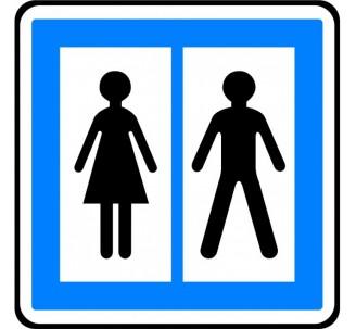 """Panneau seul ou en kit type routier """"Toilettes publiques"""" ref:CE12"""