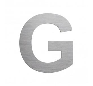 """Lettre """"G"""" en aluminium découpé, dimensions et coloris au choix"""