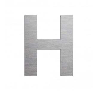 """Lettre """"H"""" en aluminium découpé, dimensions et coloris au choix"""