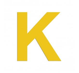 """Lettre """"K"""" en aluminium découpé, 5 couleurs 2 hauteurs"""