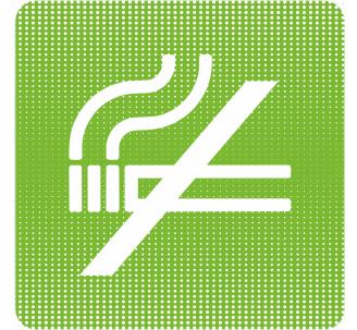 """Plaque de porte """"Point Picto"""" - Défense de fumer"""