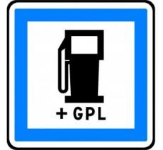 """Panneau ou kit type routier """"Poste de carburant 7/7 et 24/24 + GPL"""" ref:CE15c"""
