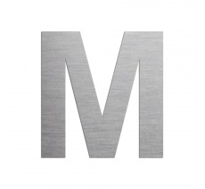 """Lettre """"M"""" en aluminium découpé, dimensions et coloris au choix"""