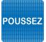 """Plaque de porte """"Point Picto"""" en plexiglass ou en aluminium - Poussez"""