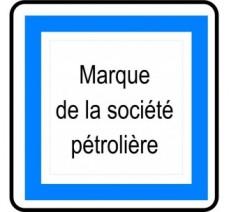 """Panneau ou kit type routier """"Poste de carburant 7/7 et 24/24"""" ref:CE15e"""