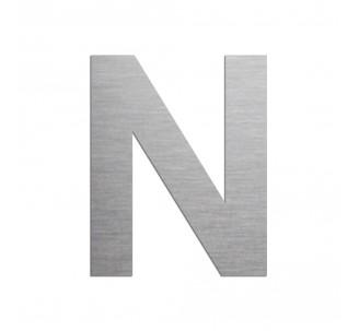 """Lettre """"N"""" en aluminium découpé, coloris et dimensions au choix"""