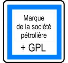 """Kit ou Panneau type routier """"Poste de carburant 7/7 et 24/24 + GPL"""" ref:CE15f"""