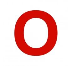 """Lettre """"O"""" en alu ou PVC découpé, dimensions et coloris au choix"""