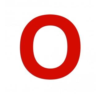 """Lettre """"O"""" en aluminium découpé, dimensions et coloris au choix"""