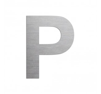 """Lettre """"P"""" en aluminium découpé, coloris ou dimensions au choix"""