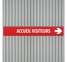 "Plaque alu dibond dim: 120x800 mm ""ACCUEIL VISITEURS"""