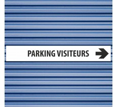 "Plaque alu dim:120x800 mm ""PARKING VISITEURS"""
