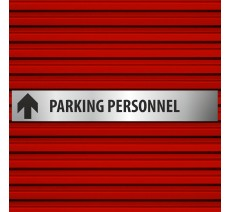 "Plaque alu dim:120x800 mm ""PARKING PERSONNEL"""