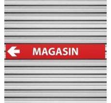 """Plaque alu dim:120x800 mm """"MAGASIN"""""""