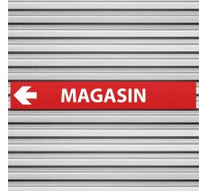"Plaque alu dim:120x800 mm ""MAGASIN"""