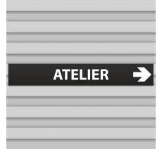 """Plaque alu dim:120x800 mm """"ATELIER"""""""