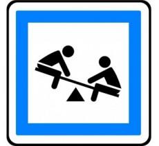"""Panneau seul ou en kit type routier """"Jeux d'enfants"""" ref:CE23"""