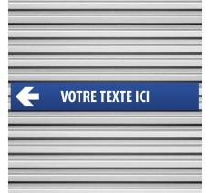 """Plaque alu dim:120x800 mm """"VOTRE TEXTE ICI"""""""