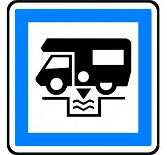 """Kit ou panneau type routier """"Station de vidange pour caravanes"""" ref:CE24"""