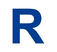 """Lettre """"R"""" en alu ou PVC découpé, coloris et dimensions au choix"""