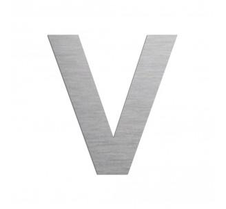 """Lettre """"V"""" en aluminium découpé, couleur et hauteur au choix"""