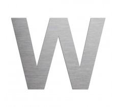 """Lettre """"W"""" en alu ou PVC découpé, coloris et hauteur au choix"""