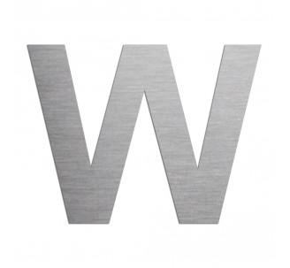 """Lettre """"W"""" en aluminium découpé, coloris et hauteur au choix"""