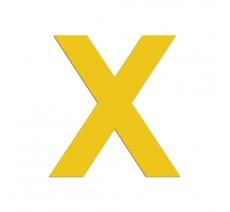 """Lettre """"X"""" en aluminium découpé, coloris et dimensions au choix"""