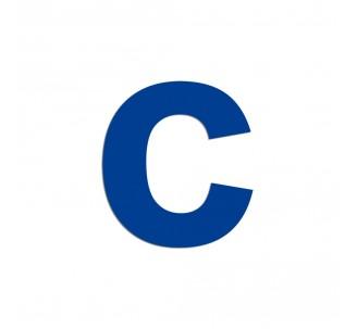 """Lettre """"c"""" minuscule en aluminium découpé, coloris et dimensions"""