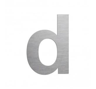 """Lettre """"d"""" minuscule en alu découpé, coloris et dimensions au choix"""