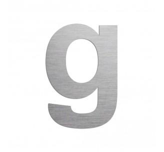 """Lettre """"g"""" minuscule en alu découpé, dimensions et coloris au choix"""