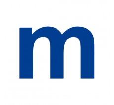 """Lettre """"m"""" minuscule en alu ou PVC découpé, hauteur au choix"""
